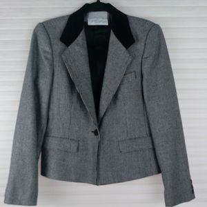 Evan Picone Herringbone Print Blazer Jacket Sz.8